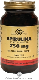 Solgar Kosher Spirulina 750 Mg 250 Tablets