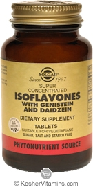 Solgar Super Concentrated Isoflavones with Genistein & Daidzein 120 Tablets