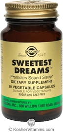 Solgar Kosher Sweetest Dreams 30 Vegetable Capsules