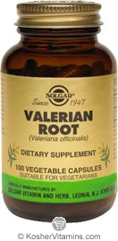 Solgar Valerian Root 100 Vegetable Capsules