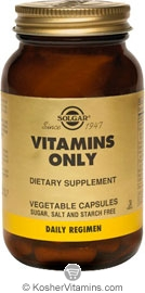 Solgar Kosher Vitamins Only 60 Vegetable Capsules