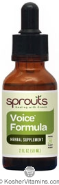 Sprouts Kosher Voice Formula 2 OZ