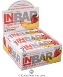 In Balance Kosher InBar for Weight & Glucose Management Protein Bar Strawberry Banana 12 Bars