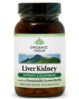 Organic India Kosher Liver Kidney Care Detoxify & Rejuvenate 90 Vegicaps