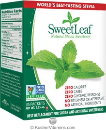 SweetLeaf Kosher Natural Stevia Sweetener 35 Packets