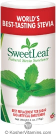 SweetLeaf Kosher Natural Stevia Sweetener Shaker 4 OZ