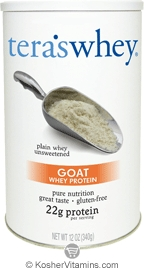 Tera's Whey Kosher Goat Protein Powder Dairy - Plain Unsweetened 12 OZ
