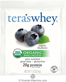 Tera's Whey Kosher Organic Protein Powder Dairy - Blueberry 12 Packets