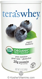 Tera's Whey Kosher Organic Protein Powder Dairy - Blueberry 12 OZ