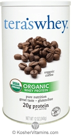 Tera's Whey Kosher Organic Protein Powder Dairy - Coffee  12 OZ