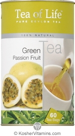 Tea of Life Kosher Green Tea Passion Fruit 60 Tea Bags