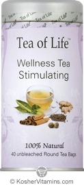 Tea Of Life Kosher Wellness Tea Stimulating 40 Tea Bags