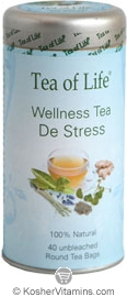 Tea of Life Kosher Wellness Tea De Stress 40 Tea Bags