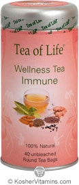 Tea Of Life Kosher Enhance Immunity Tea 40 Tea Bags