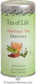 Tea Of Life Kosher Wellness Tea Memory 40 Tea Bags