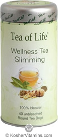 Tea of Life Kosher Wellness Tea Slimming 40 Tea Bags