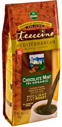Teeccino Kosher Herbal Coffee Organic Chocolate Mint Mediterranean 11 OZ