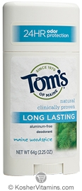Toms Of Maine Kosher Long Lasting Deodorant Stick Maine Woodspice Pack Of 6 2.25 OZ
