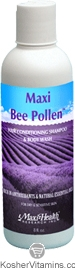 Maxi Health Kosher Maxi Bee Pollen Hair Conditioning, Shampoo & Body Wash 8 OZ