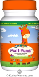 Maxi Health Kosher KiddieMax MultiYums (Multi Viamin & Mineral One Daily) Chewable Assorted Flavors 90 Chewables