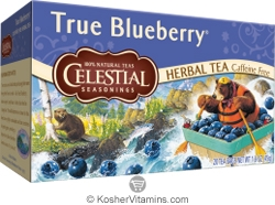 Celestial Seasonings Kosher True Blueberry Herbal Tea Caffeine Free 20 Tea Bags