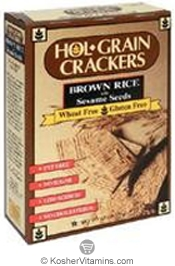 Hol-Grain Kosher Crackers Brown Rice with Sesame Seeds Wheat/Gluten Free 4.5 OZ