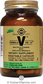 Solgar Kosher Formula VM-75 Vitamin & Mineral 120 Vegetable Capsules