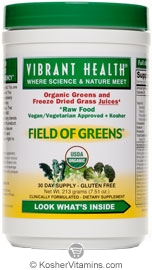 Vibrant Health Kosher Field of Greens 100% Organic 7.51 Ounces