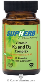 SupHerb Kosher Vitamin K2 and D3 Complex  60 Softgels