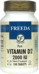 Freeda Kosher Vitamin D2 2000 IU 100 Tablets