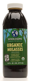 Wholesome Sweeteners Kosher Organic Blackstrap Molasses 16 OZ