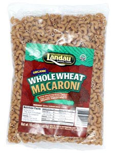 Landau Kosher Whole Wheat Pasta Macaroni Organic 16 OZ