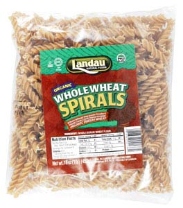 Landau Kosher Whole Wheat Pasta Spirals Organic 16 OZ