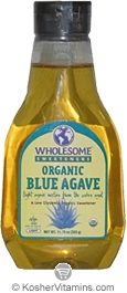 Wholesome Sweeteners Kosher Organic Blue Agave Sweetener Light 23.5 OZ