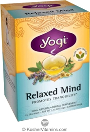 Yogi Tea Kosher Organic Relaxed Mind Pack Of 6 16 Tea Bags