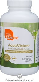 Zahlers Kosher AccuVision Advanced Eye Health Formula 120 Capsules