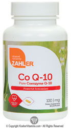Zahlers Kosher Coenzyme Q-10 100 Mg Exp. 7/15  120 Softgels
