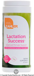 Zahlers Kosher Lactation Success Advanced Female Support 300 Tablets