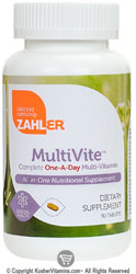 Zahlers Kosher MultiVite Complete One-A-Day Multi Vitamin & Mineral  90 Tablets