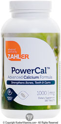 Zahlers Kosher Power Cal Advanced Calcium Formula  180 Tablets