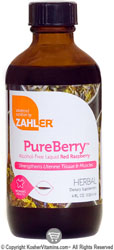 Zahlers Kosher PureBerry Red Raspberry Alcohol Free 8 FL OZ.