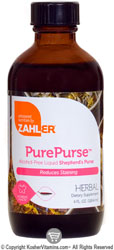 Zahlers PurePurse Shepherds Purse Alcohol Free - Kosher for Passover 8 FL OZ.
