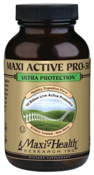 Maxi Health Kosher Maxi Active Pro-50 Ultra Probiotic 50 Billion Live Probiotics 30 Maxicaps
