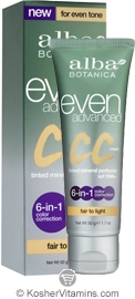Alba Botanica Even Advanced CC Cream Fair to Light 1.7 OZ