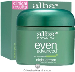 Alba Botanica Even Advanced Sea Plus Renewal Night Cream 2 OZ