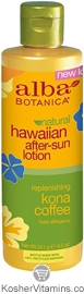 Alba Botanica Hawaiian After Sun Lotion Replenishing Kona Coffee 8.5 OZ