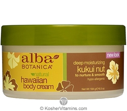 Alba Botanica Hawaiian Body Cream Deep Moisturizing Kukui Nut 6.5 OZ