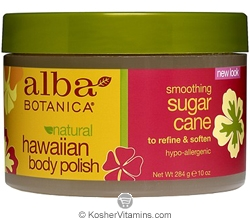 Alba Botanica Hawaiian Body Polish Smoothing Sugar Cane 10 OZ