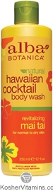 Alba Botanica Hawaiian Cocktail Body Wash Revitalizing Mai Tai 12 OZ