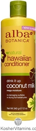 Alba Botanica Hawaiian Conditioner Drink It Up Coconut Milk 12 OZ